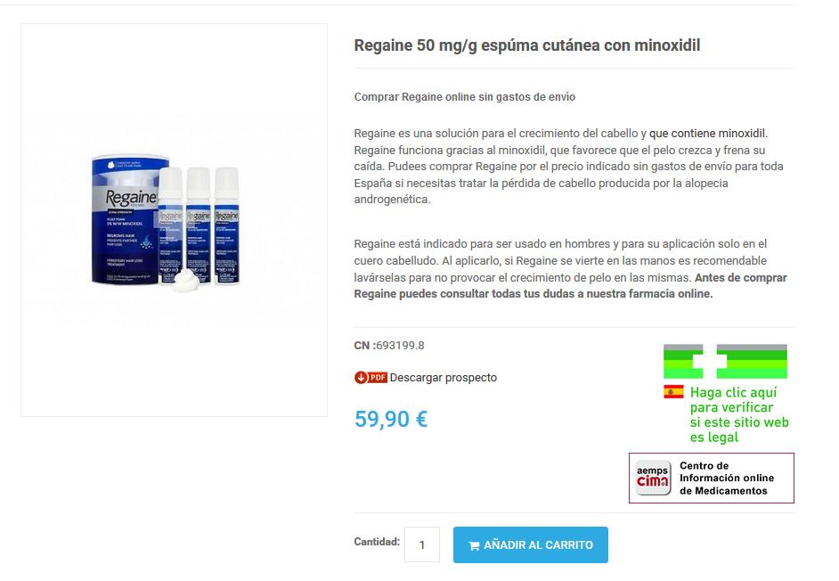 comprar rogaine 5 farmacia españa