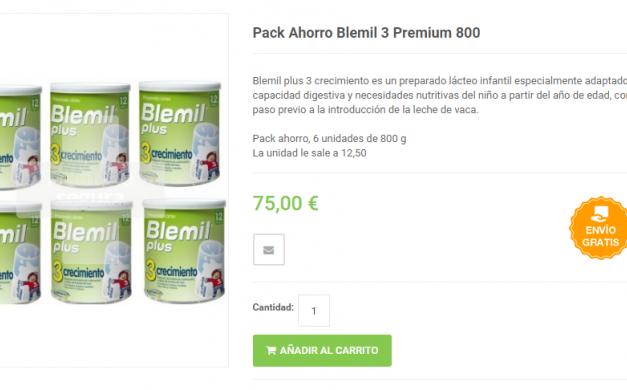 Ofertas en packs de Blemil 1, Blemil 2 y Blemil 3 Plus Forte