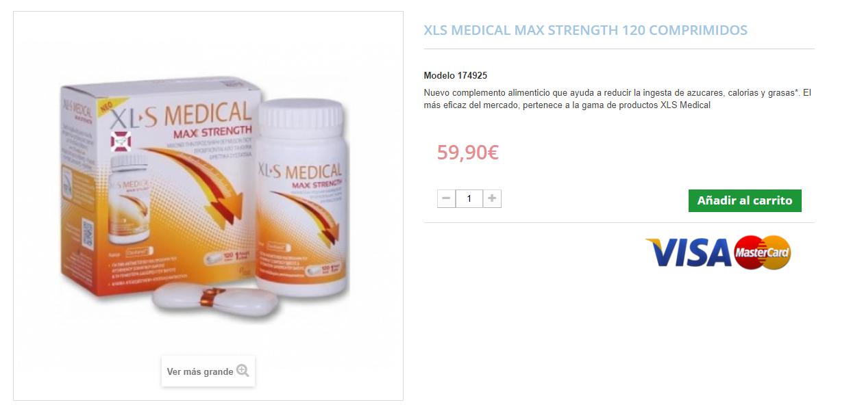comprar xls medical max strength al mejor precio